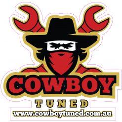 Cowboy Tuned Logo Sticker