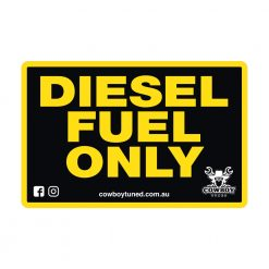 Diesel Fuel Only sticker