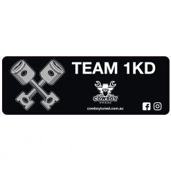 Team 1KD decal