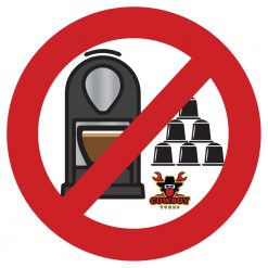 Say No to Coffee Machines Decal